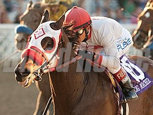 Big Macher and Rafael Bejarano take the Donald Valpredo California Cup Sprint.