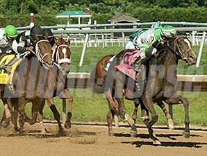 Fortune Pearl streaks to victory in the Delaware Oaks.