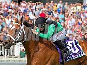 The Pizza Man won the 2014 American St. Leger.