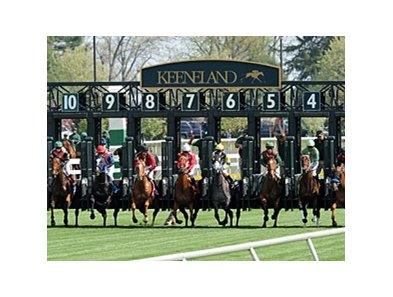 keeneland spring meet 2013 calendar
