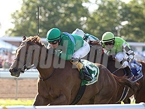 Medea leads the way home in the Eatontown Stakes.
