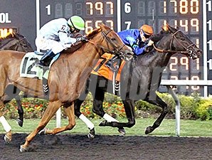 Decisive Moment wins the Presque Isle Mile.