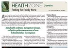 Health Zone: Feeding the Finicky Horse