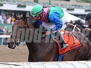 Itsmyluckyday and Paco Lopez take the Majestic Light Stakes at Monmouth Park.