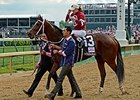 Oaks Winner Untapable Returns to Work