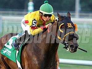 Heitai dominates Evangeline Downs Turf Sprint.