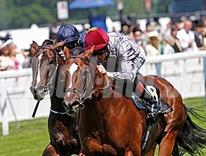 Toronado (right) won the 2014 Queen Anne Stakes.