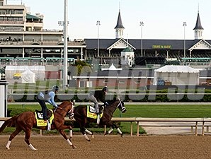 Danza and Vinceremos work in tandem at Churchill Downs April 27.