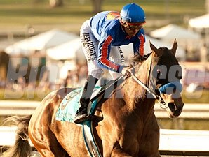 Game On Dude became only the second horse in history to sweep California's three grade I handicaps.