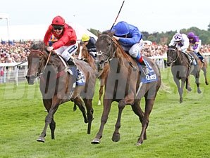Blue Bunting wins the 2011 Yorkshire Oaks.