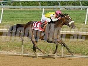 Grace Hall wins the 2012 Delaware Oaks.