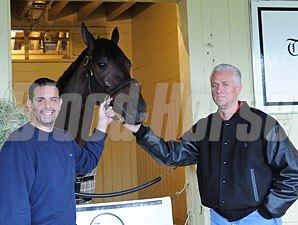 Uncle Mo, Mike Repole and Todd Pletcher at Get To Know Mo day.