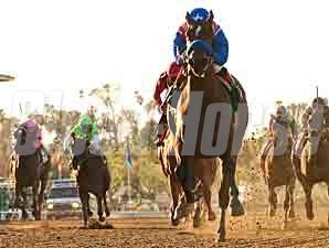 Eden's Moon wins the 2012 Las Virgenes.
