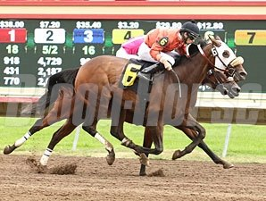 Somerset Swinger wins the Belle Notte Minnesota Distaff Chmpionship.