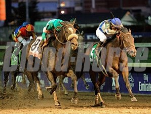 Blame wins the 2010 Breeders' Cup Classic.