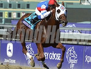 Groupie Doll in the Breeders' Cup Filly and Mare Sprint.