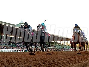 Shared Belief wins the 2014 Malibu Stakes.