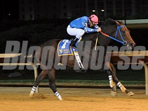 Down Town Allen wins the West Virginia Jefferson Security Bank Cavada Breeders' Classic.