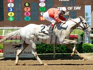 He Has Bling wins the 2013 Texas Stallion Stakes, Stymie Division.
