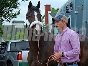Broadway's Alibi arrives at Churchill Downs on May 1, 2012..