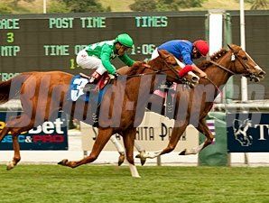 Separate Forest wins the 2011 Las Cienegas.