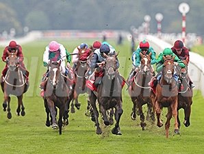 Kingston Hill wins the 2014 St. Leger.