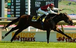 Marlang Shows Way in Breeders' Stakes