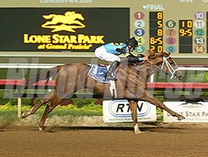 W V Jetsetter wins the 2014 TTA Sales Futurity - Colts and Geldings Division.
