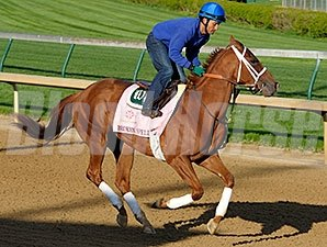 Broken Spell works at Churchill Downs 4/21/2013.
