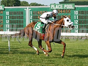 Hard Enough wins the 2013 Jersey Derby.