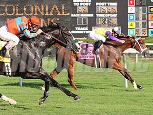 Battle of Hastings wins the 2009 Colonial Turf Cup.