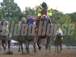 Quality Road wins the 2010 Woodward.