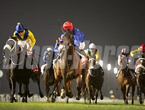 Sajjhaa wins the 2013 Jebel Hatta.