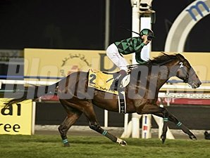Just A Way wins the Dubai Duty Free at Meydan March 29.