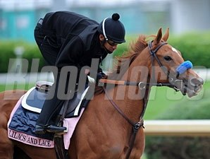 Lilacs and Lace working at Churchill Downs 5/4/2011