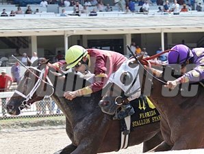Queen Drama wins the 2011 Susan's Girl Division of the FL Stallion Stakes.