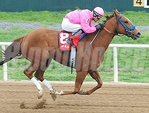 More Than Even wins the Cherokee Casino Will Rogers Downs Classic Distaff Sprint.