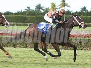 Salsa Bullet wins the 2010 John Franks Juv. Fillies Turf.