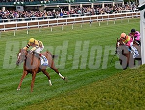 Wise Dan wins the 2014 Shadwell Turf Mile.