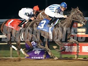 Euphony wins the 2009 Iowa Distaff.