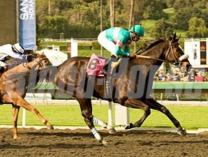 Zenyatta wins the 2010 Santa Margarita.