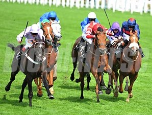 Forgotten Voice wins the 2013 Wolferton Handicap.