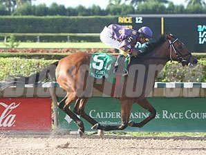 Awesome Feather wins the 2010 Susan's Girl Division of the Florida Stallion Stakes.