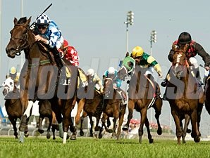 Colonial Flag wins the 2012 Ontario Collleen Stakes.