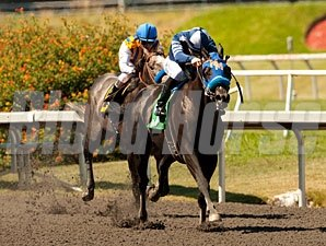 Camp Victory wins the 2012 Triple Bend.