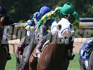 Exchanted wins the 2011 Donnie Wilhite Memorial Stakes.