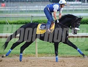 Mr. Hot Stuff gallops at Churchill Downs on April 29