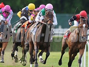 Treat Gently wins the 2010 Sheepshead Bay.