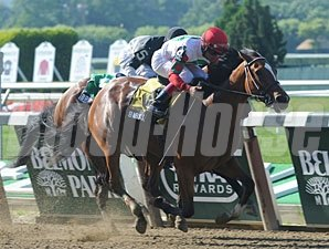 Baby J wins the 2013 Victory Ride Stakes.