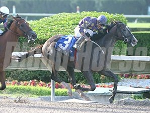 Jackson Bend wins the 2009 Dr. Fager Division of the Florida Stallion Stakes.